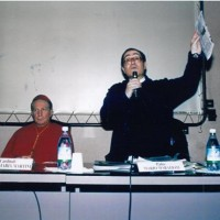 Il Cardinale Carlo Maria Martini con padre Mario Marafioti